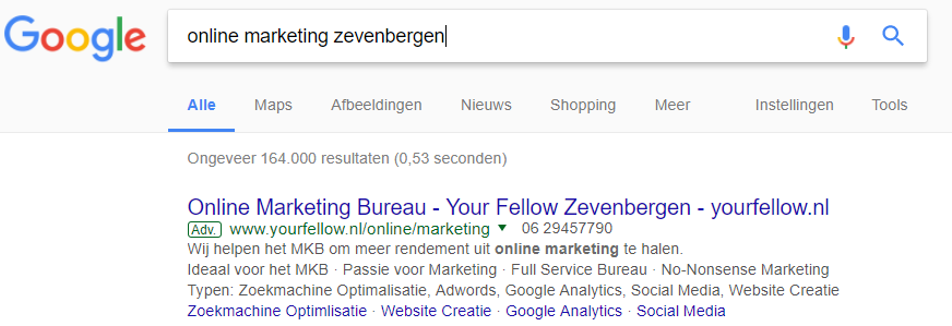 online marketing zevenbergen